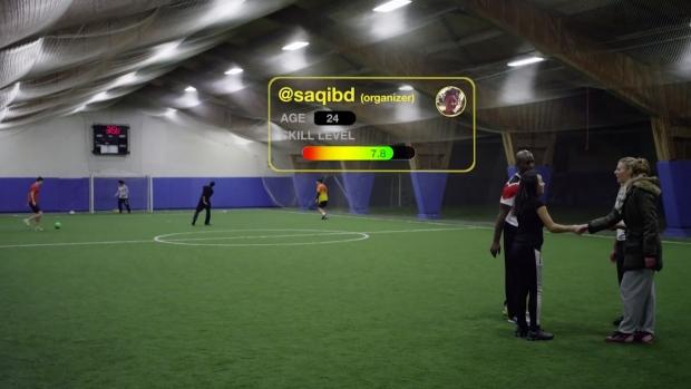 Sportan app for pick-up sports
