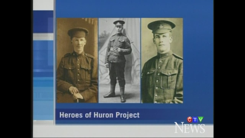 Some of the men from Huron County lost in the Second World War are seen in photos from Jim Rutledge's 'Heroes of Huron.'
