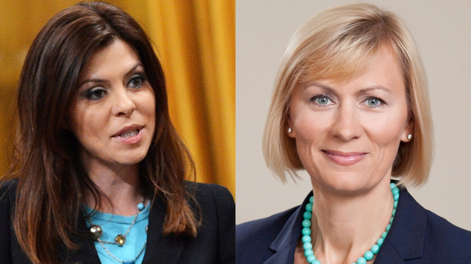Natalia Lishchyna (right), who is battling Eve Adams for the Conservative nomination in a new Toronto-area riding, says the MP should stay in her current riding.