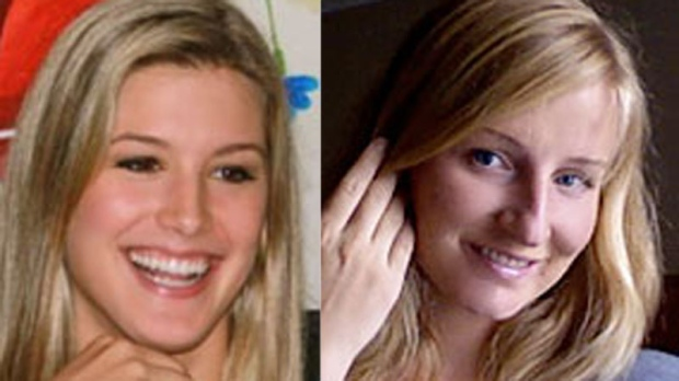 Eugenie Bouchard (left) needed just 58 minutes to