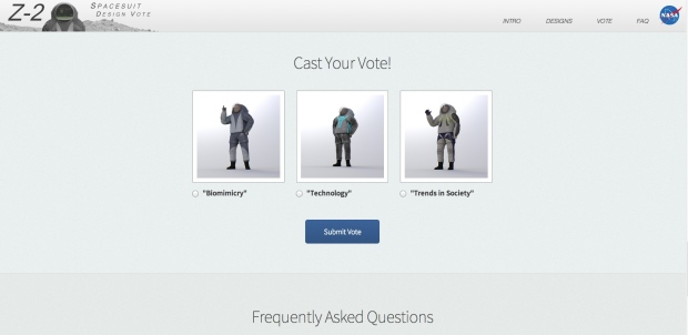 NASA turns to crowdsourcing to pick new spacesuit