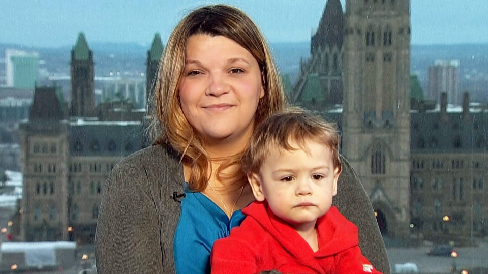 Mallory Olsheski and her son, Riley, speak to CTV's Canada AM, Wednesday, April 2, 2014.