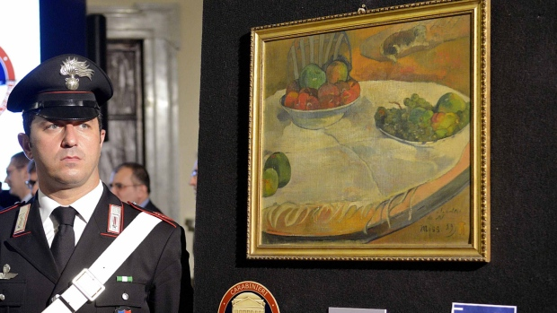 Stolen Gauguin painting recovered by Italy police