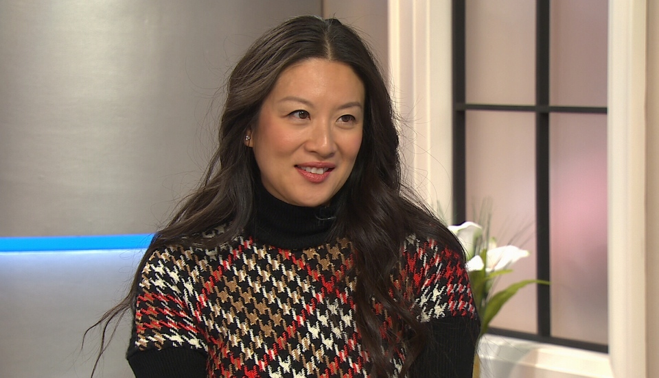 Gossip queen Elaine Lui, author of new book, 'Listen to the Squawking Chicken,' on CTV's Canada AM on April 2, 2014.
