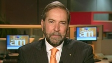 Quebec NDP MP Thomas Mulcair appears on Canada AM, Friday, Oct. 14, 2011.