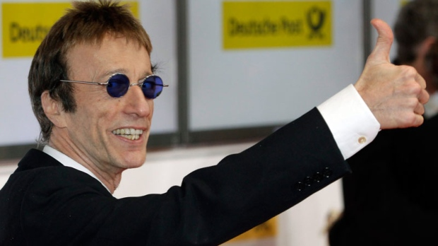 Robin Gibb arrives for the 46th Goldene Kamera (Golden Camera) media award gala in Berlin, Germany, Saturday, Feb. 5, 2011. (AP / Michael Sohn)