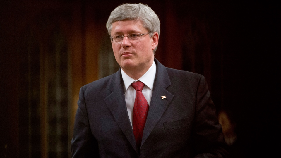 Canadian Prime Minister Stephen Harper responds to a question during question period in the House of Commons in Ottawa on Wednesday April 2, 2014. (Adrian Wyld / THE CANADIAN PRESS)