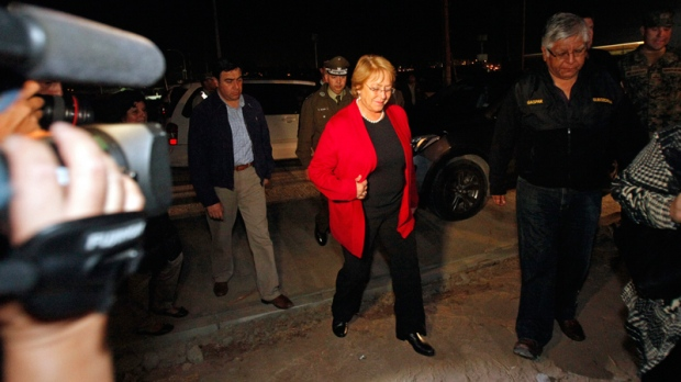 Chile's President Michelle Bachelet in Arica