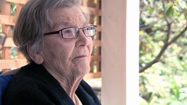 89-year-old Kay Carter said she did not want to end up 'an ironing board on a bed' and was terrified of 'dying inch by inch.'