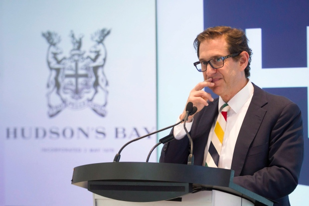 Hudson's Bay CEO Richard Baker attends AGM