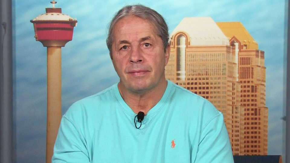 Bret 'Hitman' Hart appears on Canada AM, Thursday, April 3, 2014.