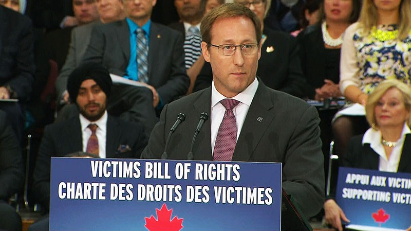 Minister of Justice Peter MacKay unveils its long-touted victims' bill of rights Thursday, April 3, 2014.