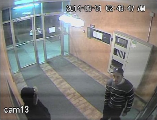 Windsor police released this photo of two suspects wanted in a theft investigation on Monday, March 31, 2014.
