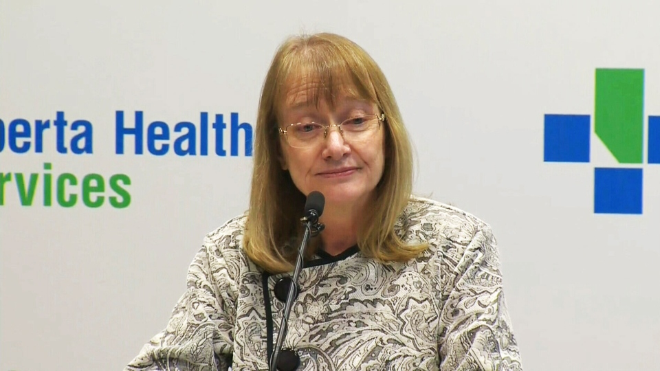 Dr. Judy MacDonald, Calgary's medical officer of health, updates the public about two new cases of measles on Thursday, April 3, 2014.