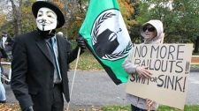 Protesters take part in Occupy Ottawa event
