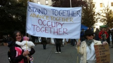 Protestors gathered at the Vancouver Art Gallery on Saturday, October 15, 2011 to participate in Occupy Vancouver. (Laura Kane)