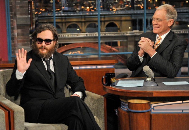 Joaquin Phoenix on Late Show with David Letterman