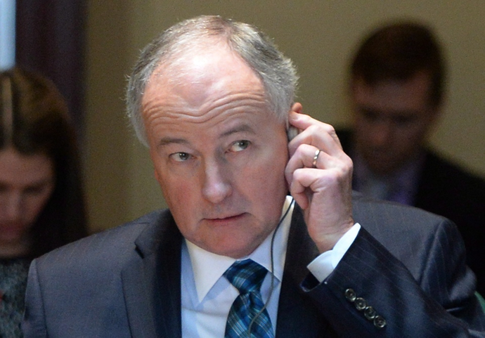 Defence Minister Rob Nicholson appears at a House of Commons standing committee on defence on Parliament Hill in Ottawa on Thursday, April 3, 2014. THE CANADIAN PRESS/Sean Kilpatrick