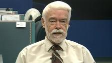 Retired teacher Bruce Farrer on CTV News Channel