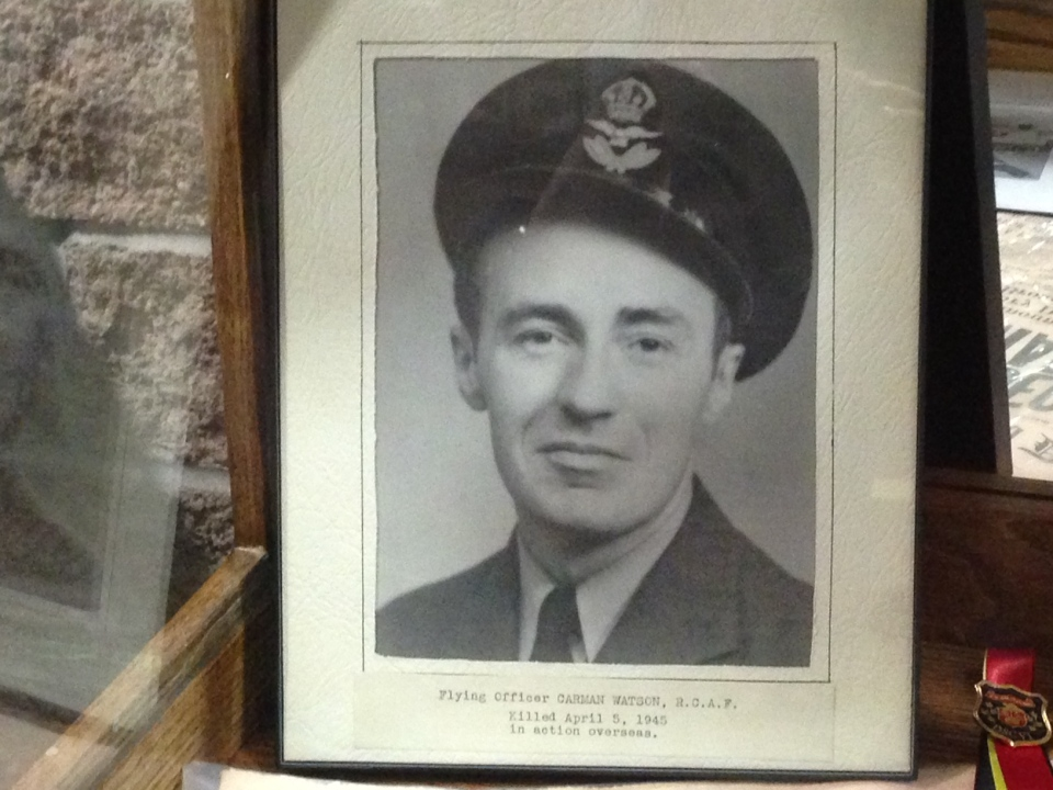 Pilot Officer Carmen Watson was killed returning from a mission over Germany in 1945.