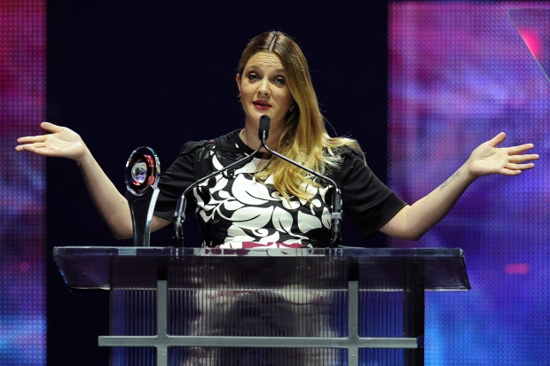Drew Barrymore appears at CinemaCon in Las Vegas