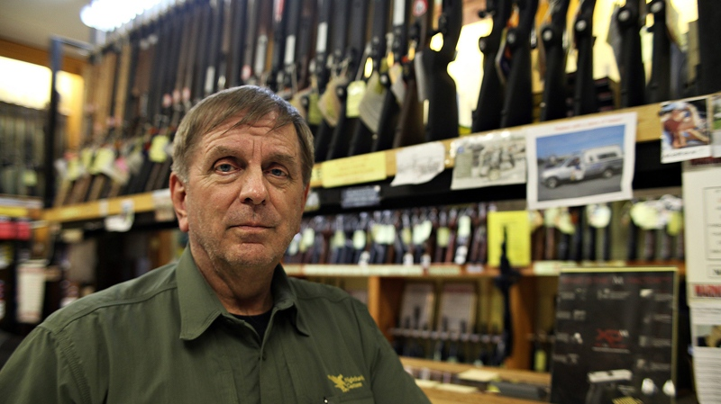 Guns Galore salesman Greg Ebert at the store in Killeen, Texas on July 28, 2010. (AP Photo/Stephen M. Keller, File)