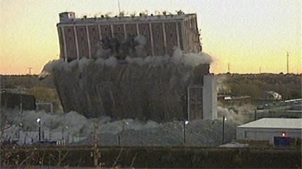 Ogden Grain Elevator during explosion