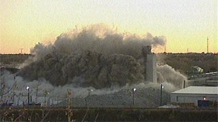 Ogden Grain Elevator following implosion