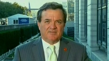 Finance Minister Jim Flaherty appears on CTV's Question Period from Paris, Sunday, Oct. 16, 2011.