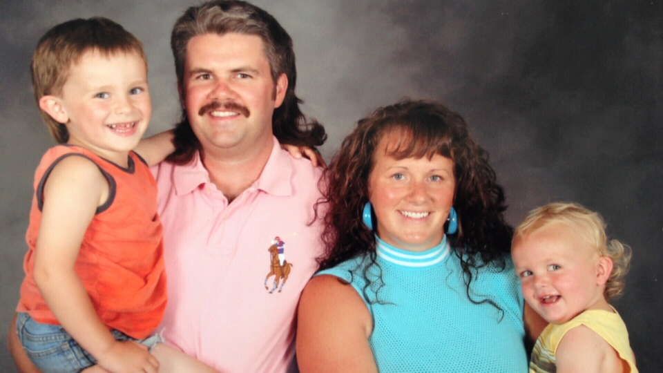 Blair McMillan, his wife Morgan Patey and their two sons Denton, 2, and  Trey, 5.