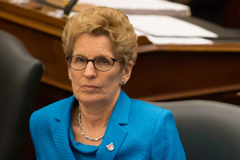 Ontario Premier Kathleen Wynne attends question period at Queen's Park in Toronto on Tuesday, April 1, 2014. (Chris Young / THE CANADIAN PRESS