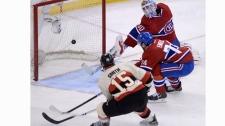 Ottawa Senators forward Zack Smith (15) blasts the
