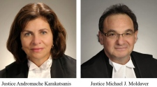 Prime Minister Stephen Harper has nominated two Ontario judges to fill vacancies at the Supreme Court of Canada. Justice Andromache Karakatsanis and Justice Michael J. Moldaver were among six judges recommended by a parliamentary review committee.