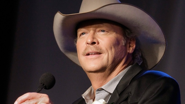 Alan Jackson speaks as he is inducted into the Nashville Songwriters Hall of Fame on Sunday, Oct. 16, 2011, in Nashville, Tenn. (AP / Mark Humphrey)