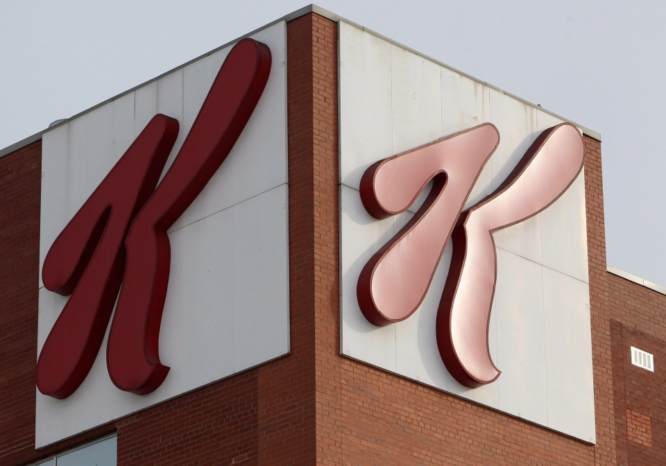 The Kellogg's Canada plant is shown in London, Ont., Tuesday, Dec. 10, 2013. (Dave Chidley / THE CANADIAN PRESS)