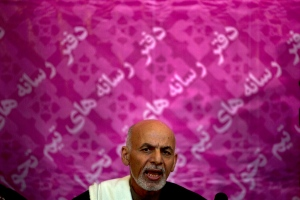 Afghan presidential candidate Ashraf Ghani Ahmadza