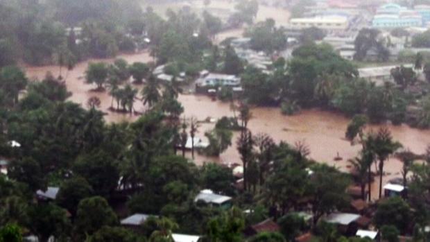 Flash floods in the Solomon Islands