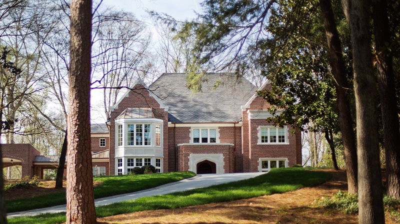 In this March 31, 2014, photo Atlanta Archbishop Wilton Gregory's $2.2 million mansion is seen in the upscale Buckhead neighbourhood in Atlanta. (AP Photo/David Goldman)