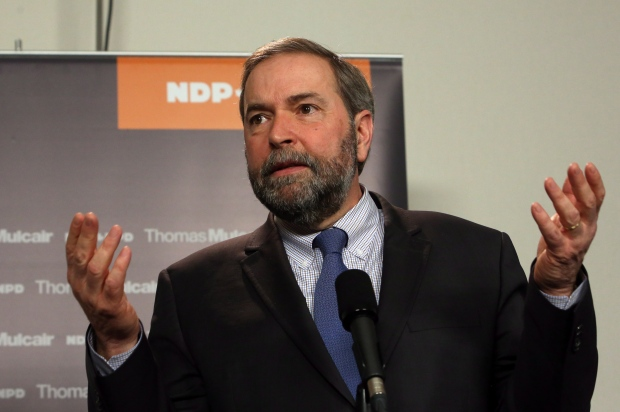 NDP Leader Tom Mulcair Quebec election