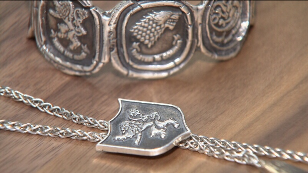 Vancouver company Pyrrha has been commissioned to make the official fan jewelry for Game of Thrones. The jewelry line retails between $98 to $900. (April 6, 2014/CTV)