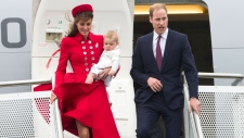 Prince George arrives for first royal tour