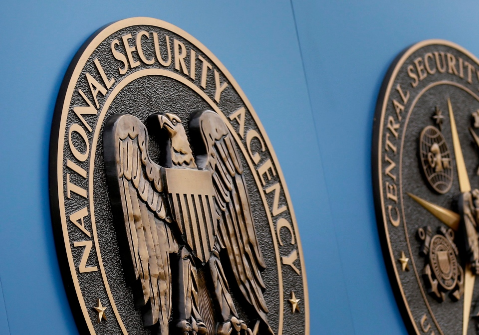 A sign outside the National Security Agency (NSA) campus in Fort Meade, Md., June 6, 2013. (AP / Patrick Semansky, File)