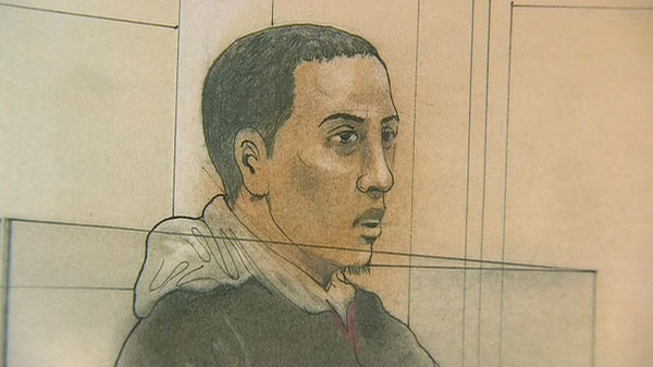 Abdullahi Mohamoud, 22, is seen in this court sketch.
