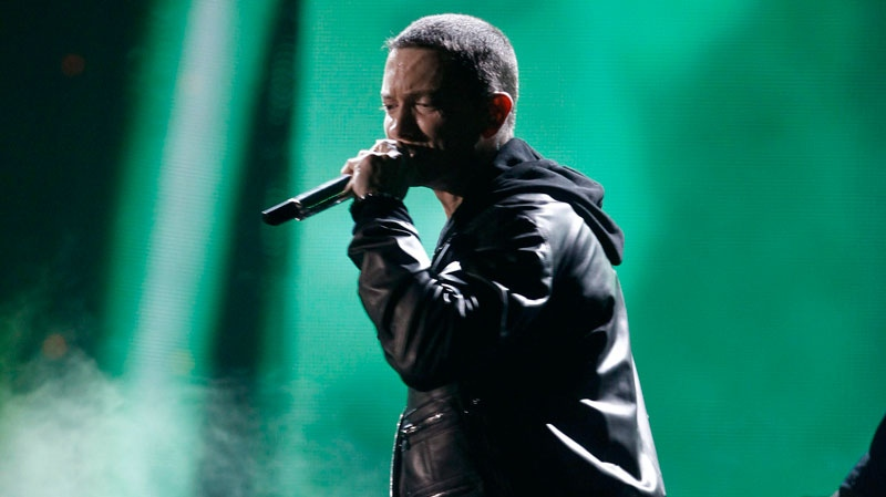 Eminem performs at the 53rd annual Grammy Awards on Sunday, Feb. 13, 2011, in Los Angeles. (AP / Matt Sayles)