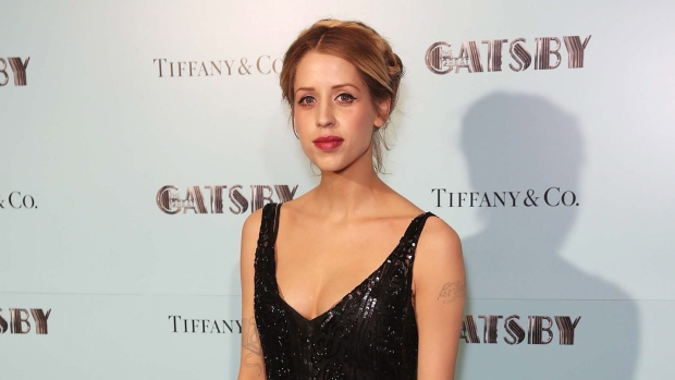 Peaches Geldof arrives at a London film screening