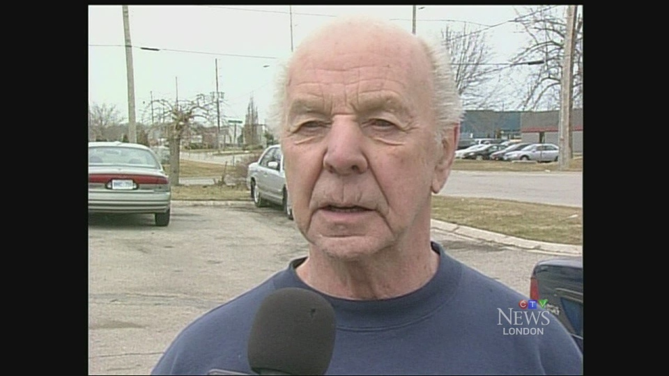 Councillor Bud Polhill speaks with CTV News in London, Ont. on Monday, April 7, 2014. (Bryan Bicknell / CTV London)