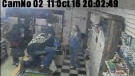 Surveillance video showing armed robbery in Woodstock, October 18, 2011.