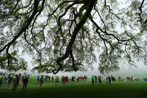 Masters golf tournament rained out on Day One