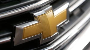 Chevrolet logo on the grill of a vehicle in Pittsburgh.(AP Photo/Gene J. Puskar, File)