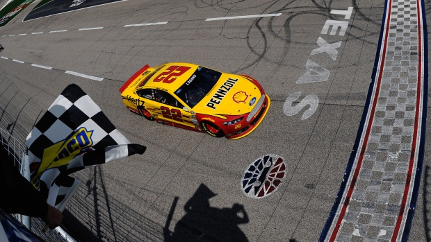 Logano wins in NASCAR Sprint Cup